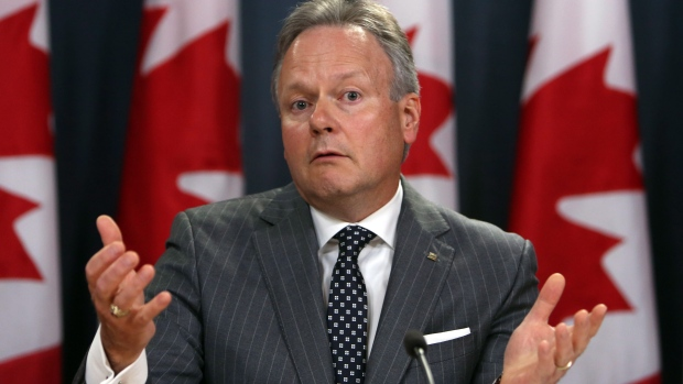 Stephen Poloz, governor of the Bank of Canada, speaks Wednesday to reporters in Ottawa about the rise of the bank's interest rates.